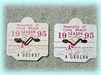 1995 Serial Numbered Beach Badges